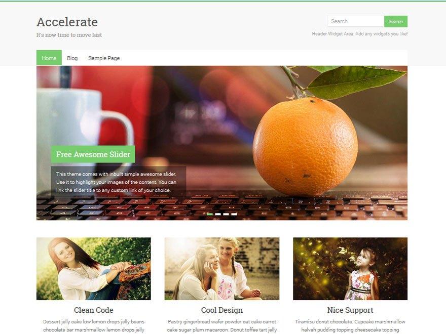 Accelerate - super flexible WordPress theme