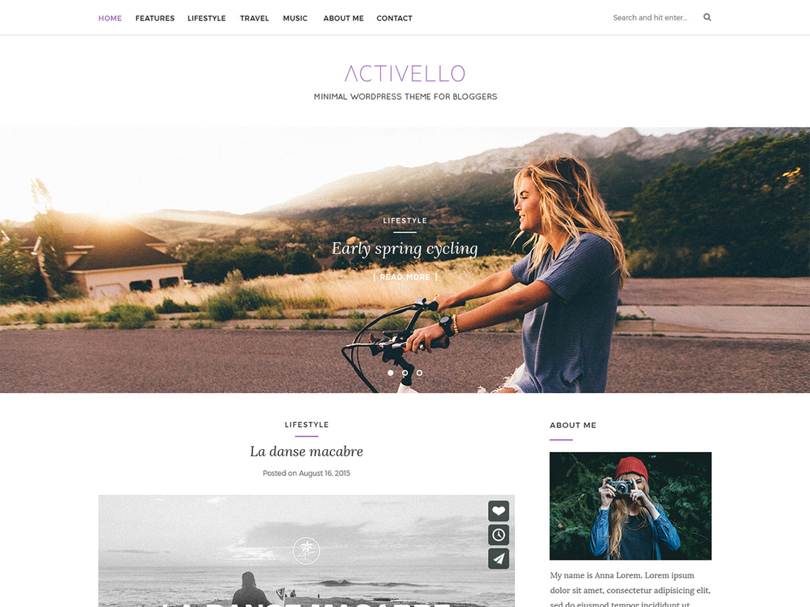 Activello-simple-blog-theme