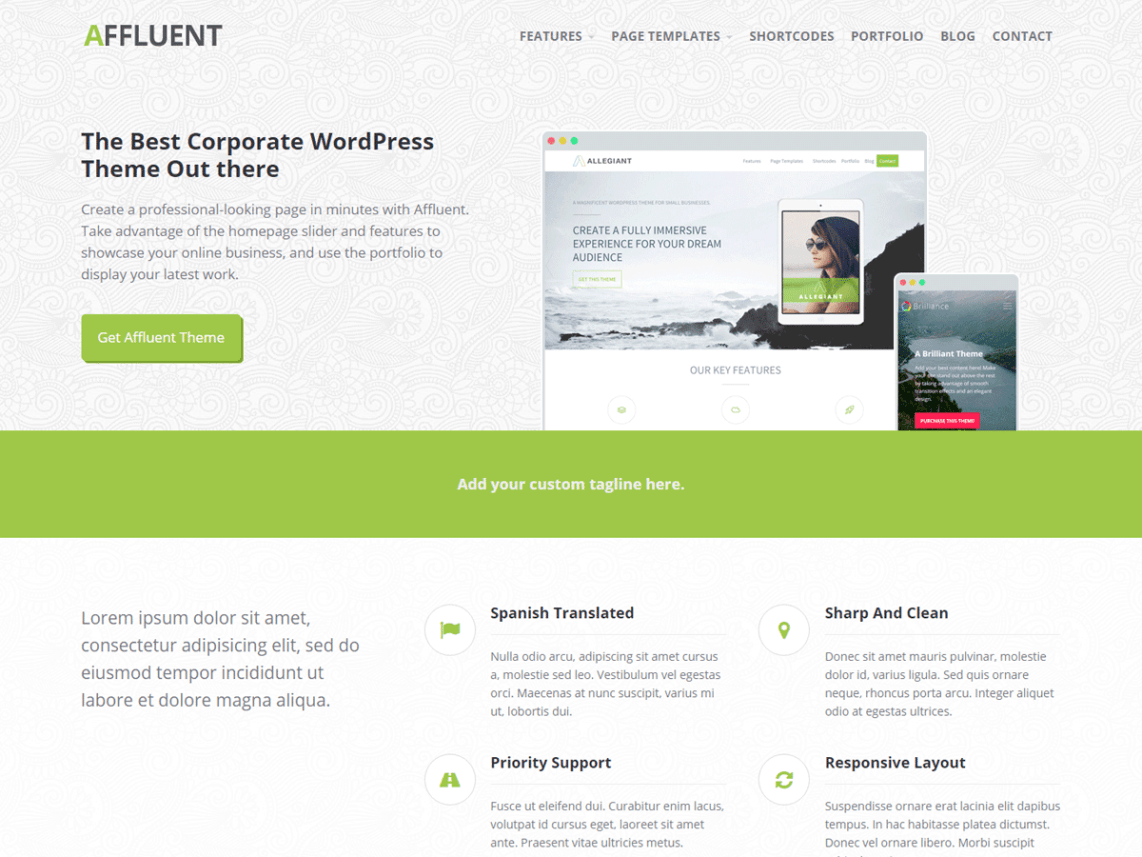 Aff luent - best wordpress theme for business website