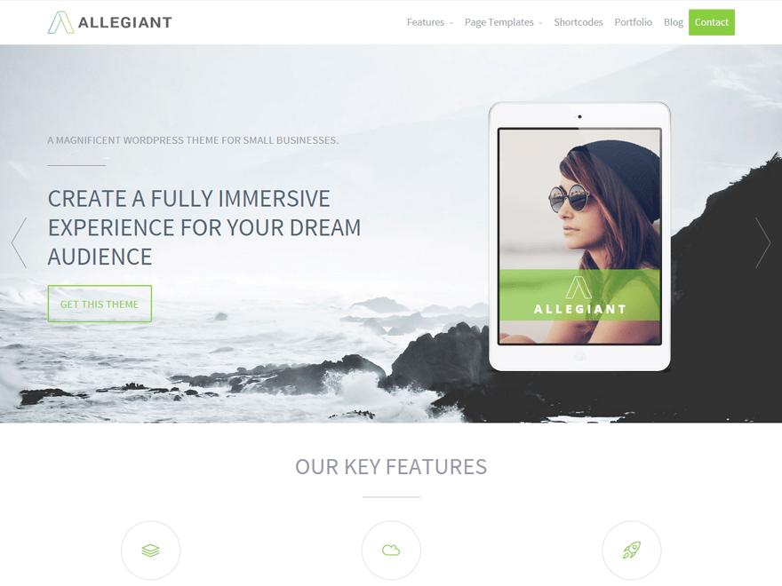 Allegiant-free-WordPress-theme
