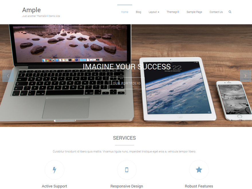 Ample - multipurpose WordPress theme