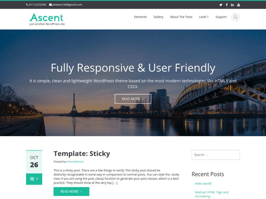 Ascent-flat-business-theme