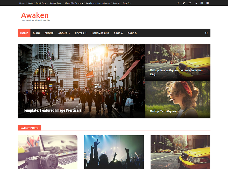 Awaken - most downloaded WordPress theme