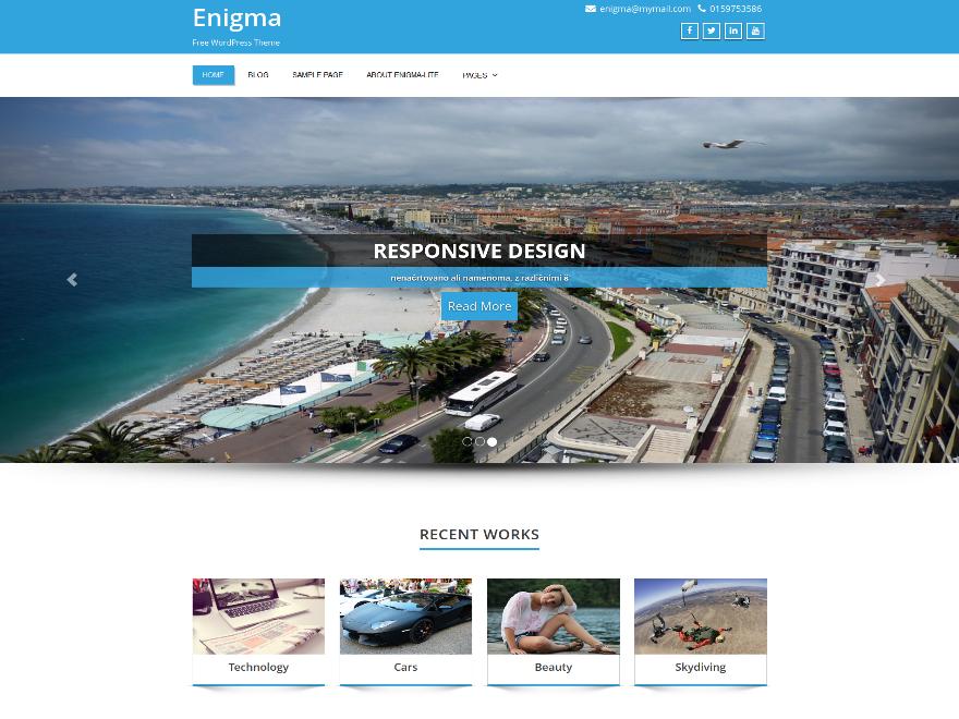 Enigma-flat-WordPress-theme