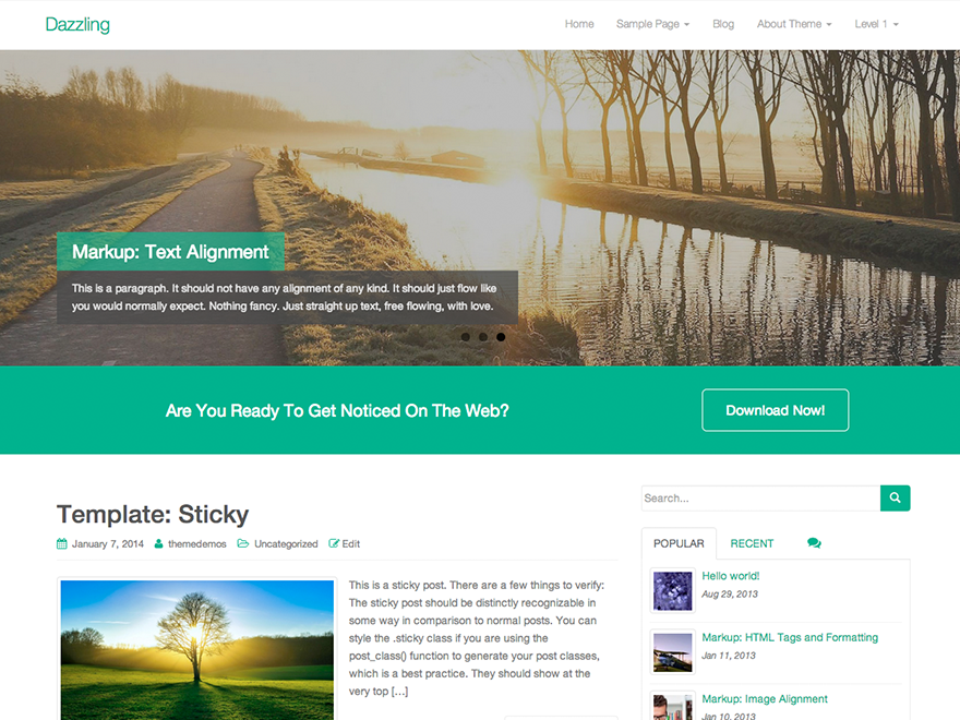 dazzling-free-business-WordPress-theme