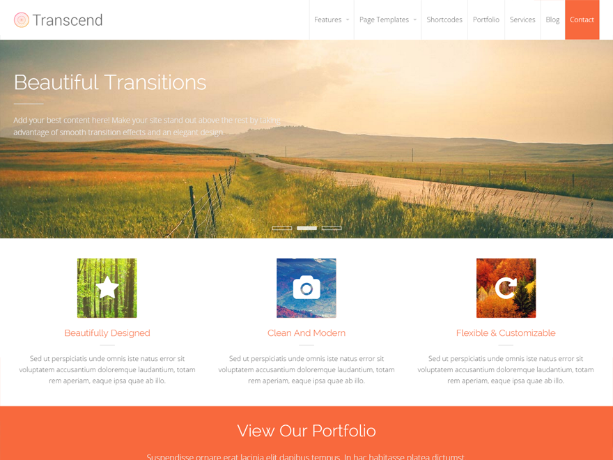 transcend - clean blog theme