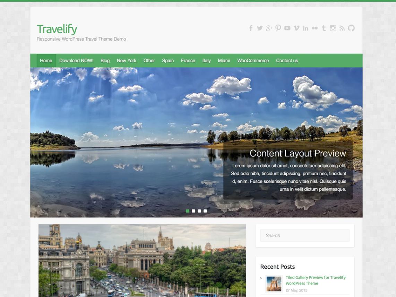 travelify - beautiful travel theme