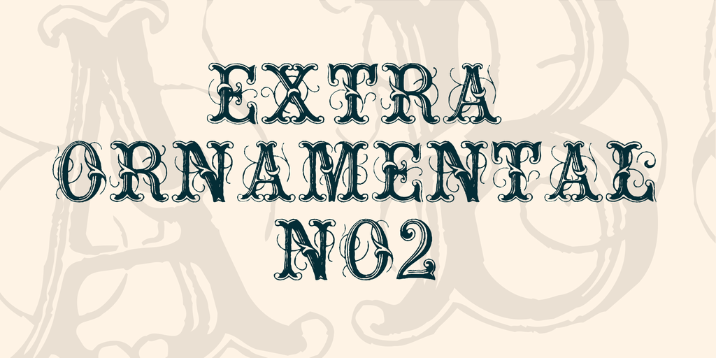 Extraornamental : Exquisitely designed font