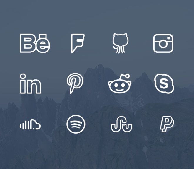 22 Best Free Flat Social Media Icons Sets