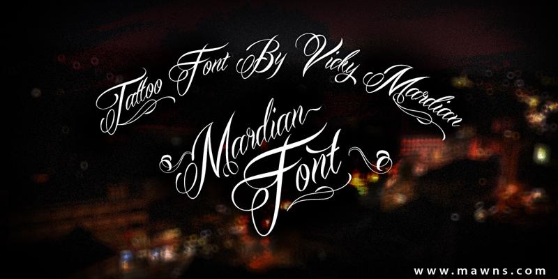 Mardian: One classy tattoo font