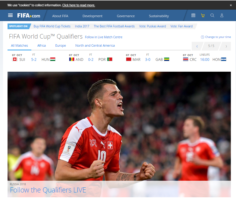 Perfectly Designed Sports Websites Examples