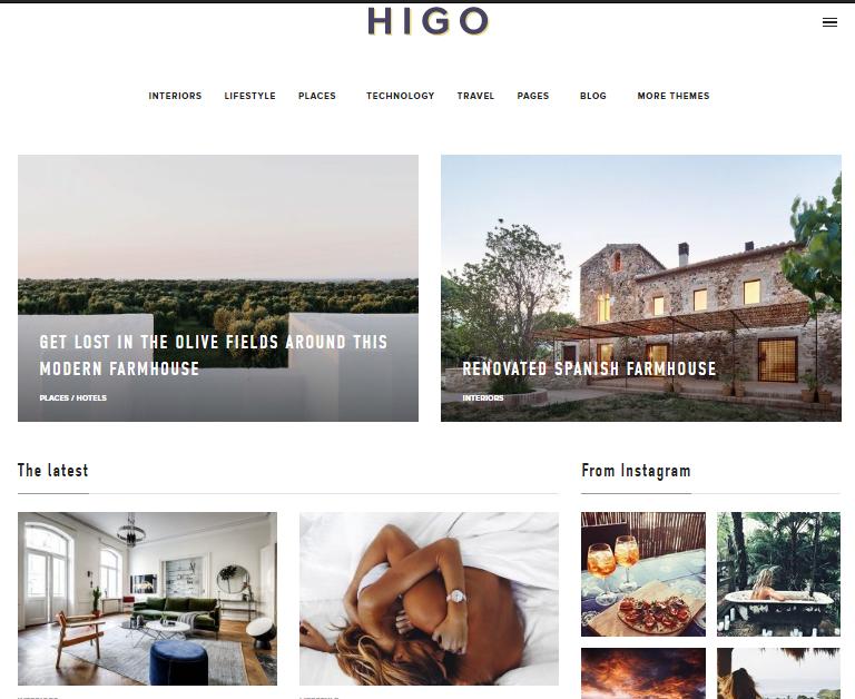 HIGO Premium Fashion WordPress Themes