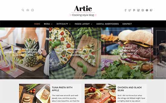 20 Best WordPress Themes for Recipe Blogs