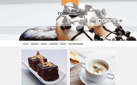 WordPress Themes for Recipe Blogs