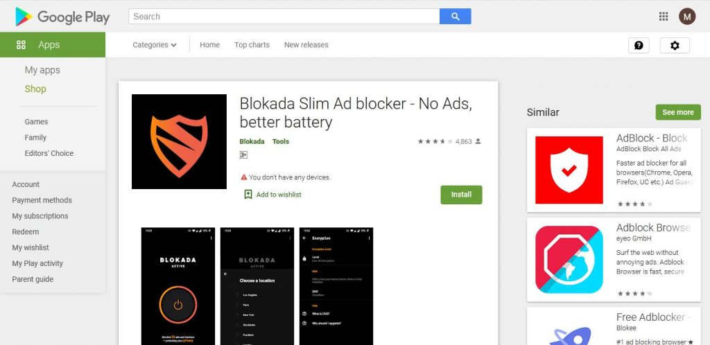 Ad Blocking Softwares for Android